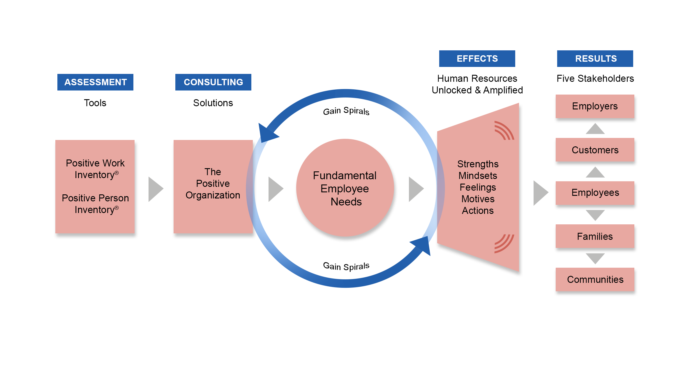 Graphic representing the Five Thrive Model